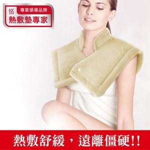 【Sunlus】三樂事LCD頸肩雙用熱敷柔毛墊SP1207BR