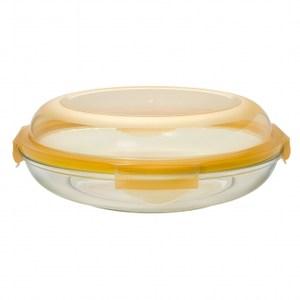 Glasslock Plus時尚強化玻璃保鮮盤1750ml