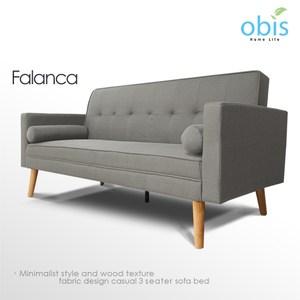Obis Falanca 北歐風簡約織布沙發床-灰色