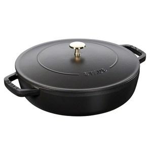 Staub 水滴型多功能燉鍋 鑄鐵鍋 湯鍋 24cm 黑