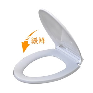緩降曲線型馬桶蓋-上鎖式 白