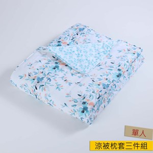 HOLA 棻雨木棉絲涼被枕套三件組