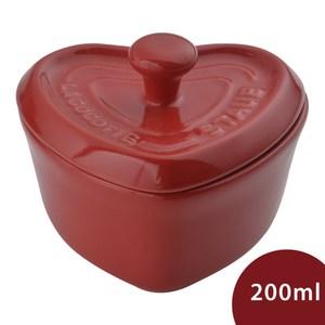 Staub 心型陶瓷烤盅 含蓋 200ml
