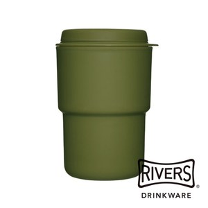 日本Rivers WALLMUG DEMITA隨行杯290ml-橄欖綠