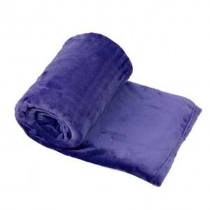 時尚法蘭絨毯 槿紫