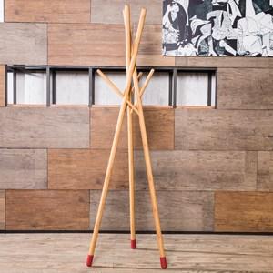 HOLA CASA 簡約竹製榫卯衣帽架 紅點
