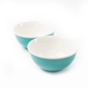HOLA 虹采湯碗二入組 淺藍