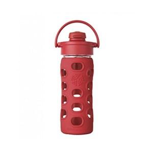 美國唯樂Lifefactory 彩色玻璃水瓶-吸嘴350ml紅LF284201
