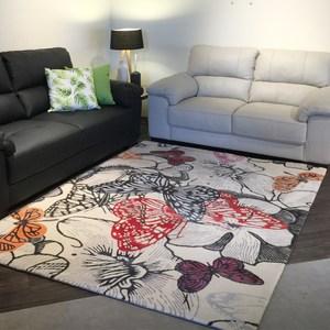 【YFS】舞蝶紅羊毛地毯-160x230cm