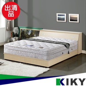 庫存品出清-【KIKY】二代德式療癒型舒眠護背彈簧雙人特大床墊6*7尺