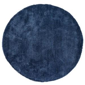 HOLA 達芬防蟎抗菌地毯 120x120cm 圓形 藍色款