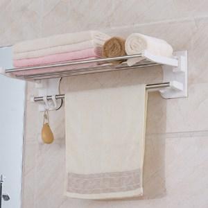 【IDEA】衛浴系列-不銹鋼寬型衣物收納架(浴巾架/毛巾掛架)