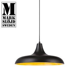 【MARKSLOJD】BRYNE 黑色粉烤扁型飛碟吊燈 黑色粉烤扁型