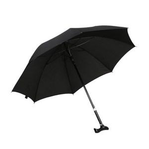 PUSH!戶外用品可調節長短雨傘拐杖傘登山杖(加固型)藏青色I74-1藏青色