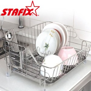 【韓國原裝進口STAFIX】不銹鋼單層碗盤置物架41.5X35X22CM