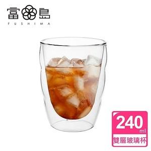 【FUSHIMA 富島】造型系列雙層耐熱雲朵玻璃杯240ML