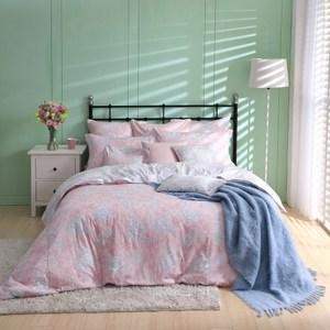 【BBL Premium】浪漫花舞100%精梳棉.印花加大兩用被床包組加大
