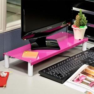 【ikloo】省空間桌上鍵盤架/螢幕架(桃粉色)
