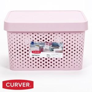 波蘭 Curver 洞洞籃 含蓋 粉色 17L
