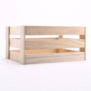 萊利原木手作木條箱 大