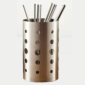 【PUSH!餐具用品】304不鏽鋼加厚筷子收納筒(加高款)E54
