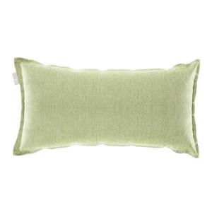 HOLA 新素色織紋抱枕30x60cm 淺綠色