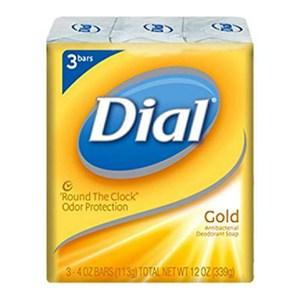 Dial 黃金香皂-抗菌除臭新包裝(113g*3塊/組)*6