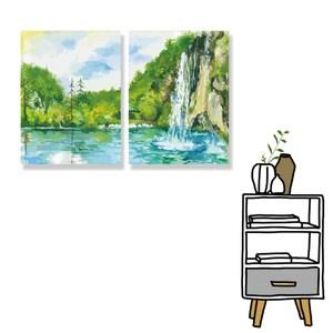 【24mama 掛畫】二聯式 油畫布 無框畫 30x40cm-富麗