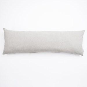 HOLA 素色磨毛羽絲棉抱枕 40x120cm 銀灰