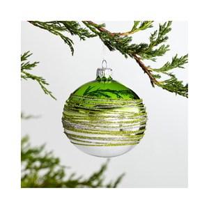 [特價]Crate&Barrel Tinsel 漸層條紋球型吊飾 淺綠