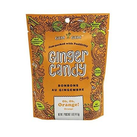 印尼Gem Gem鑽石純薑糖 香橙 105g