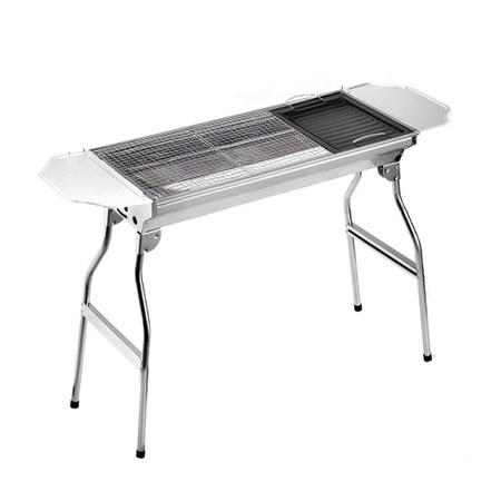 保麗晶 煎烤兩用攜帶式折疊不鏽鋼燒烤爐