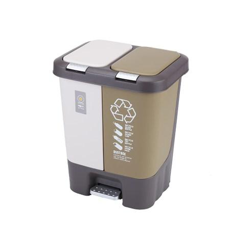HOLA 緩降分類兩用垃圾桶20L
