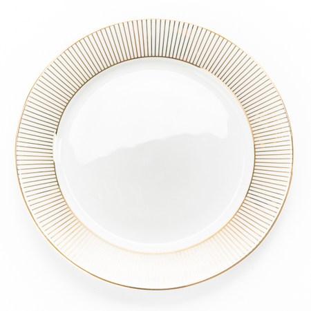 HOLA 金弦骨瓷平盘 15.5cm 線條