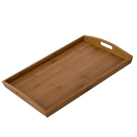 竹之美炭化竹托盤 45x30cm