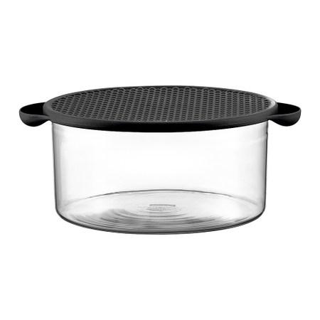 丹麥BODUM 玻璃微波/烤箱烹飪鍋(附蓋)2.5L(兩色可選)黑