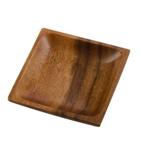 HOLA 桑梧洋槐木方型小盤10cm