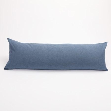 HOLA 素色磨毛羽絲棉抱枕 40x120cm 蒼青