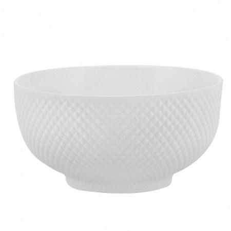 HOLA雅堤刻紋碗15cm 強化瓷白色餐具 好清洗 可用微波爐及洗碗機