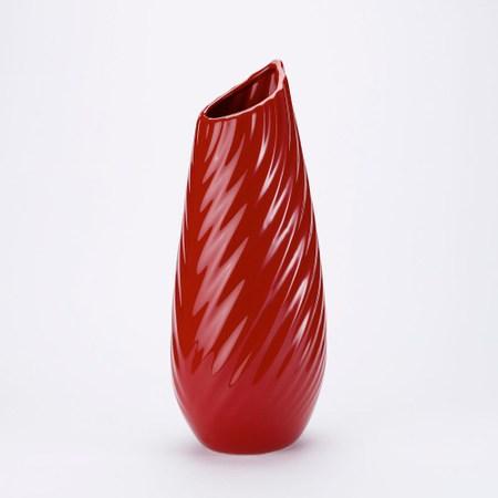拉賽爾鮮紅葉脈花器 40cm