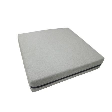 HOLA 諾凡雙色舒壓立體厚坐墊55x55cm淺灰
