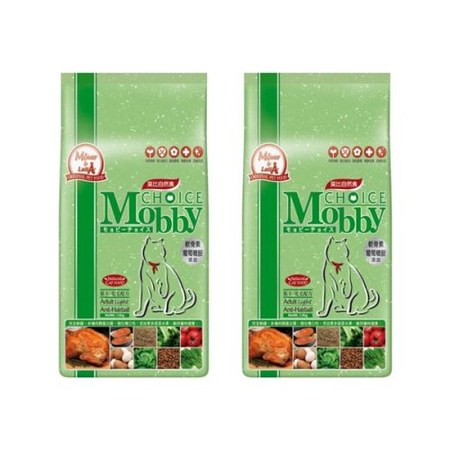 Mobby 莫比 低卡成貓 抗毛球 配方 自然食飼料 3kg X 2包