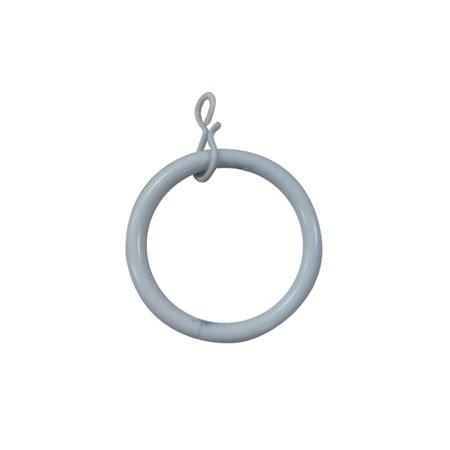 多樣屋金屬伸縮窗簾桿-金屬環10入 白色