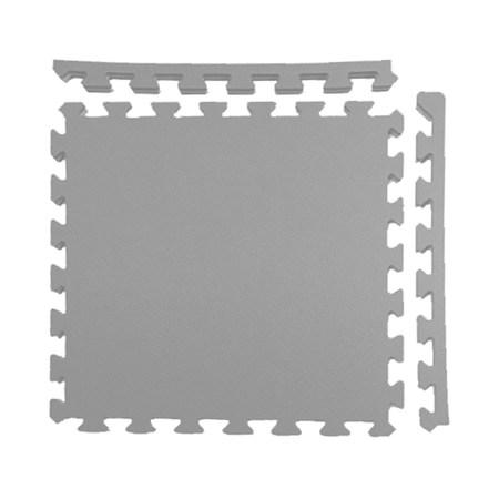 特力屋安全雙色地墊 48x48x1.4cm 4入 淺灰