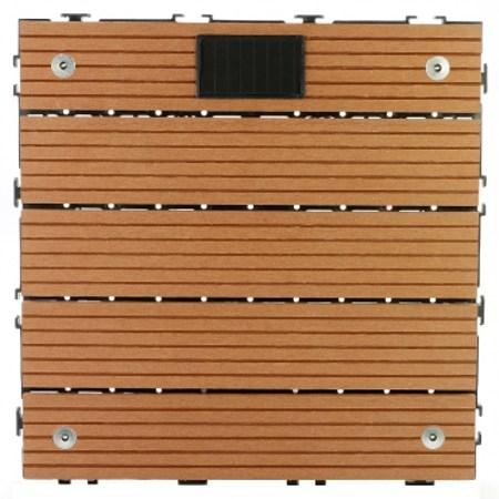 太陽神塑木止滑LED地板30X30咖啡
