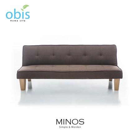 obis MINOS 北歐風質樸布沙發床-咖啡