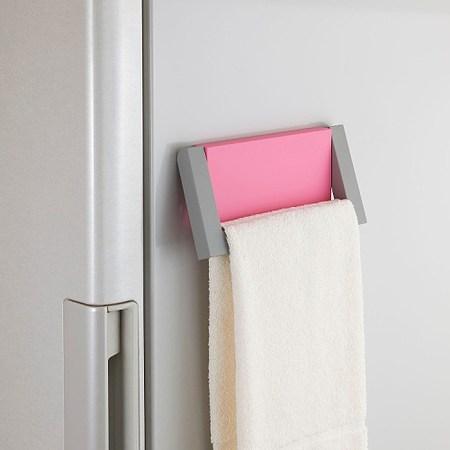 日本Belca磁吸式毛巾架-粉紅