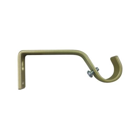 多樣屋金屬伸縮窗簾桿托架-固定單托架2入 金色