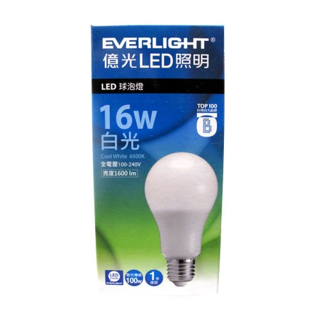 億光 LED半周光燈泡 16W 白光