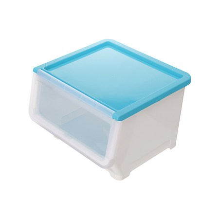 BQ607-1 漾彩直取式收納箱38L 藍
